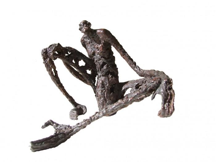 Chimpanzé assis - H. 23 cm