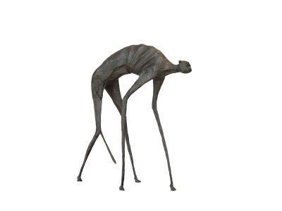 Chat craintif - 2 - H. 54 cm