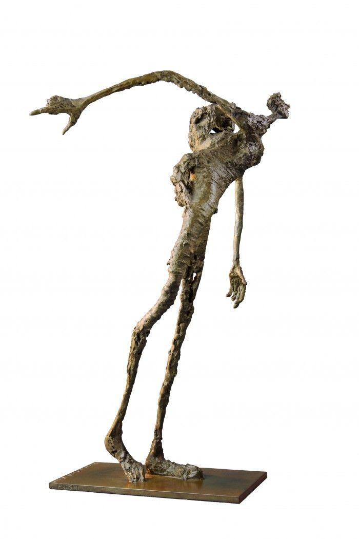 Petit homme des bois difforme à la hotte - H. 33 cm