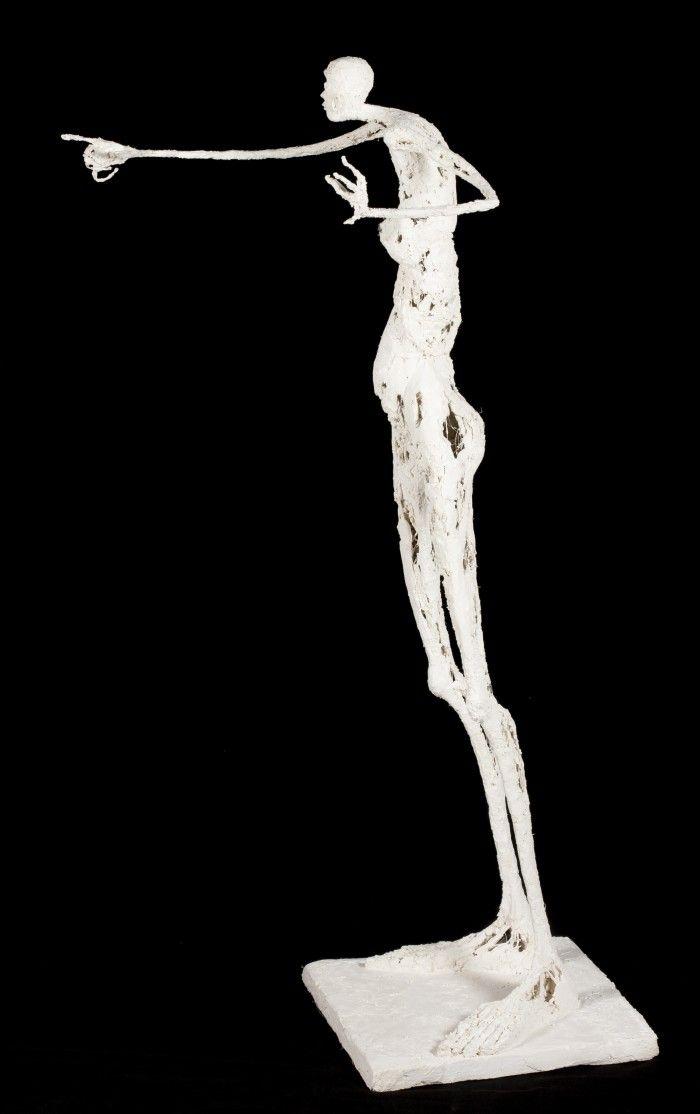 L'imprécatrice - Plâtre et filasse - H. 87 cm