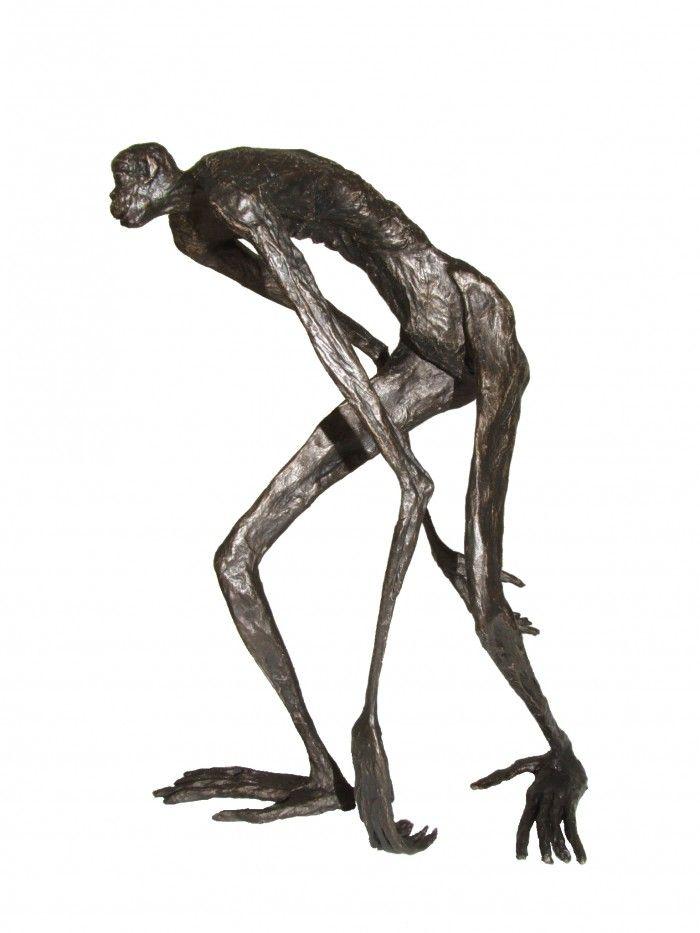 Bonobo en mouvement - H. 29 cm