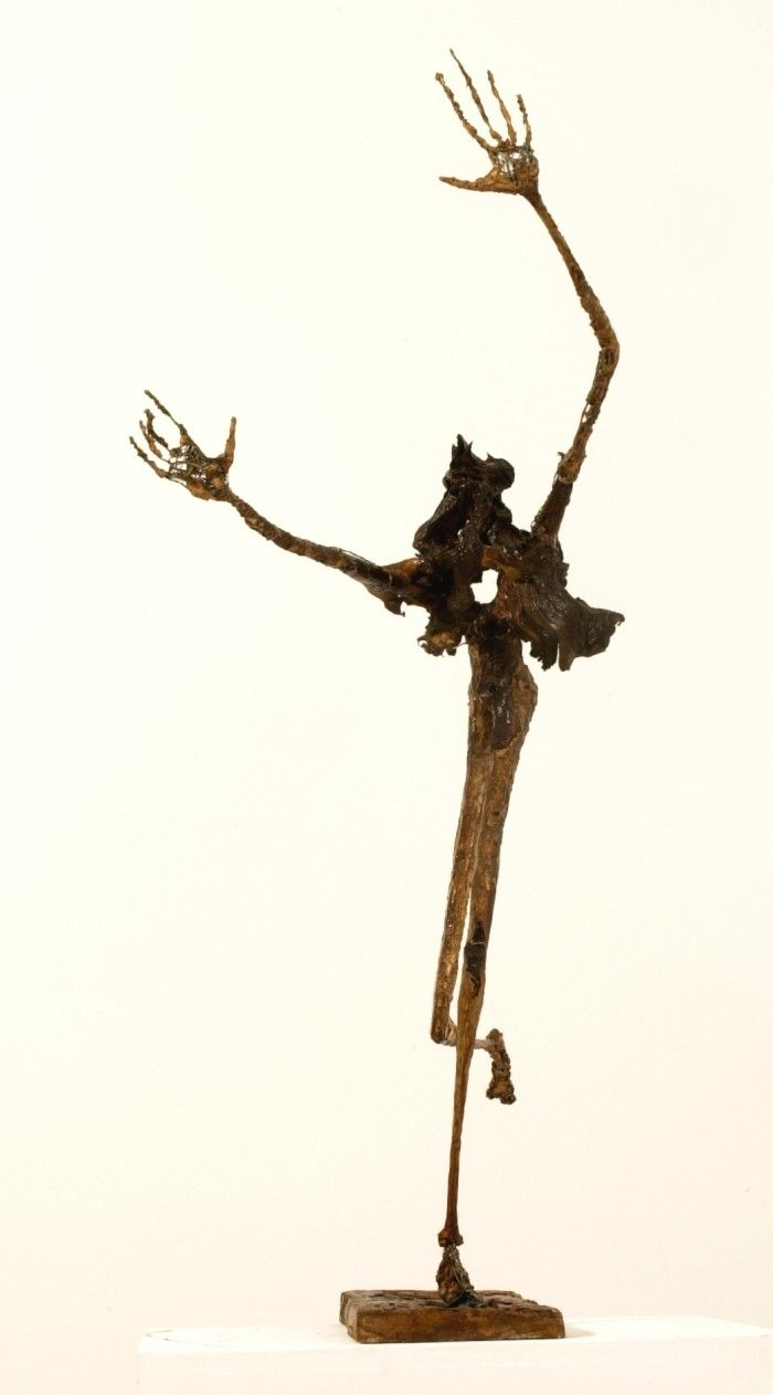 Carnaval - Plâtre et bois - H. 91 cm