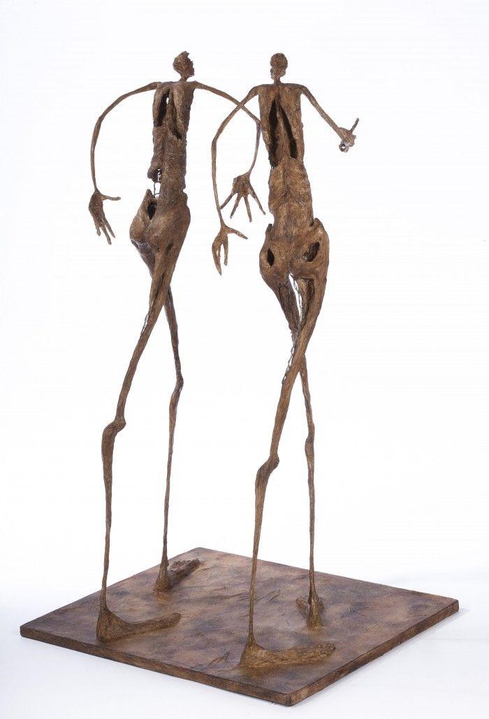 2 petits promeneurs bavards - H. 57 cm