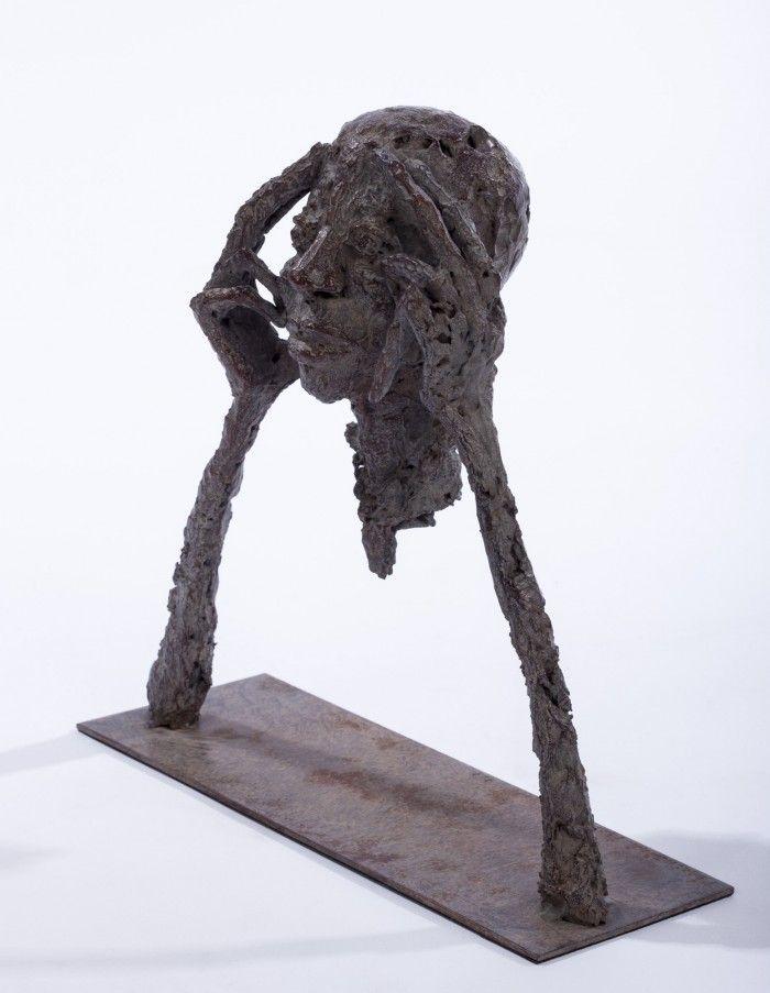 Portrait aux mains - 1 - H. 22 cm