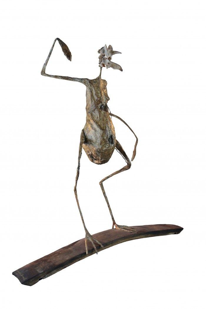 Bizarre volatile bicéphal - H. 51 cm