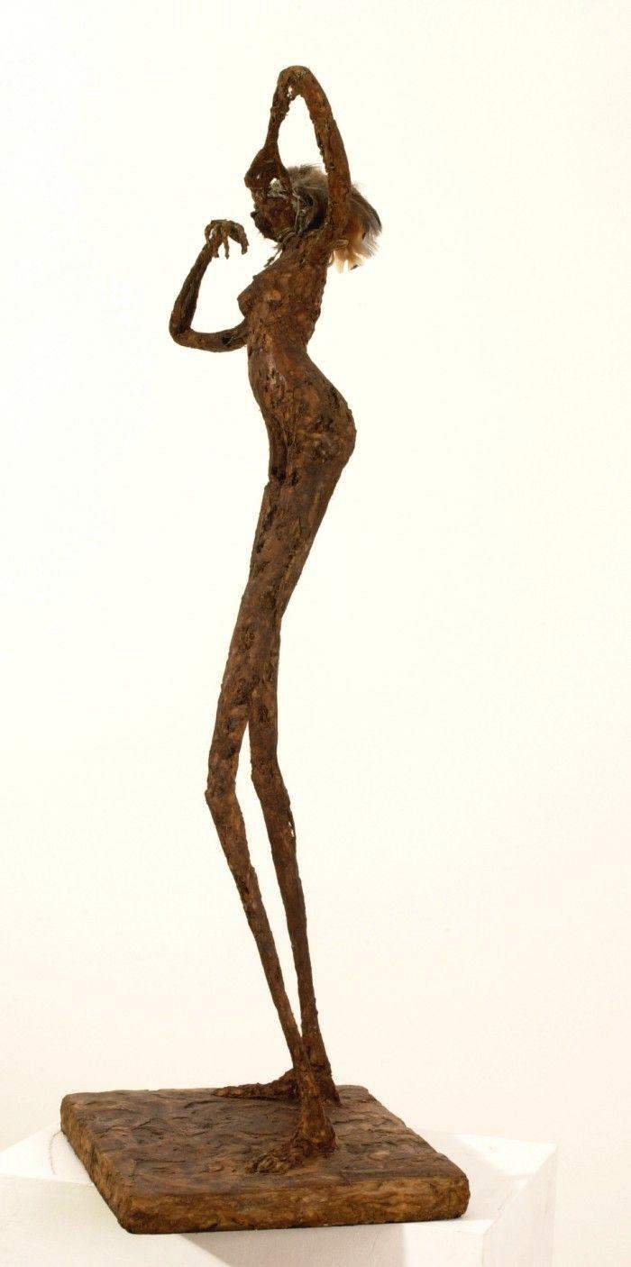 Danse d'initiation - Plâtre et bois - H. 95 cm