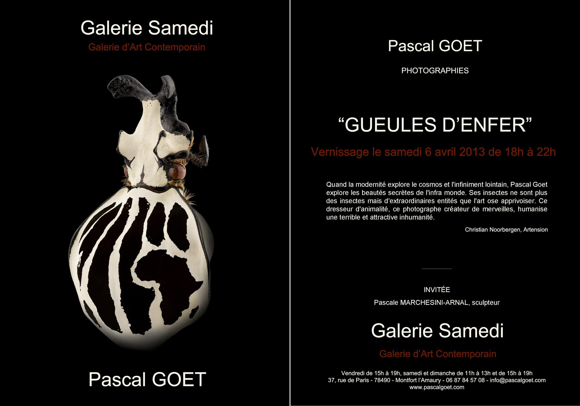 Invitation Pascal Goet avril 2013